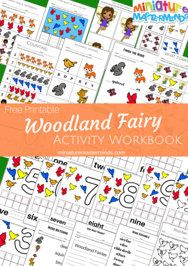 Free Printable Woodland Fairy Activity Workbook