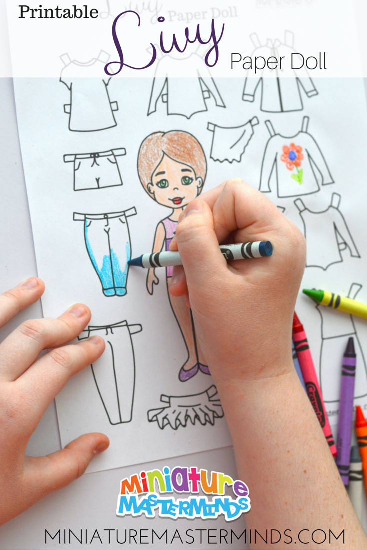 Printable Livy Paper Doll From Miniature Masterminds