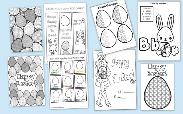 59 Page Printable Easter Activity Pack Coloring Pages