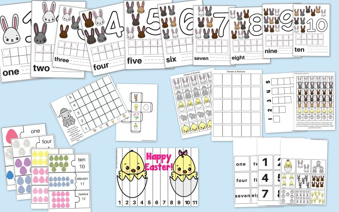 59 Page Printable Easter Activity Pack Counting