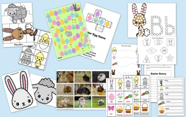 59 Page Printable Easter Activity Pack Games