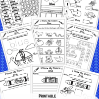 I Know My Colors - Blue No-Prep Printable WorkBook
