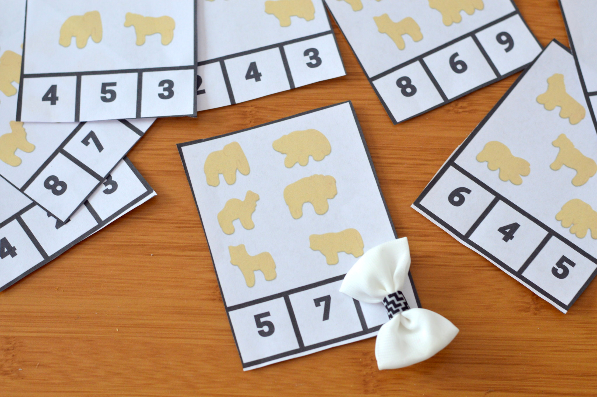 Animal Cookie Free Printable Counting And Word Family