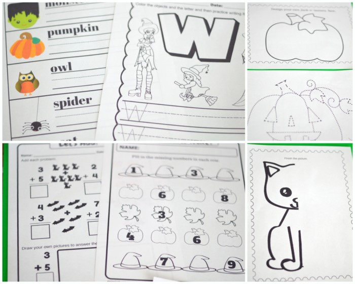 Happy Halloween Printable Preschool and Kindergarten Activity Pack