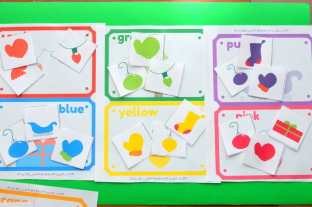 Christmas Color Matching Activity For Preschoolers And Toddlers