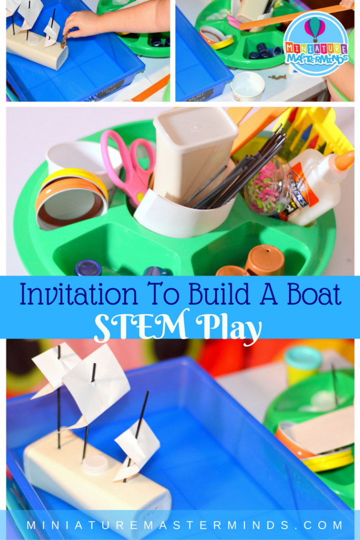 Invitation to build a boat stem play