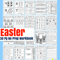 Easter No Prep Preschool And Kindergarten Worksheet 30 Page Book Free Printable Download