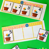 Preschool Springtime Number Sequencing Free Printable Activity
