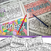 Hidden Character Traits Preschool Coloring Pages