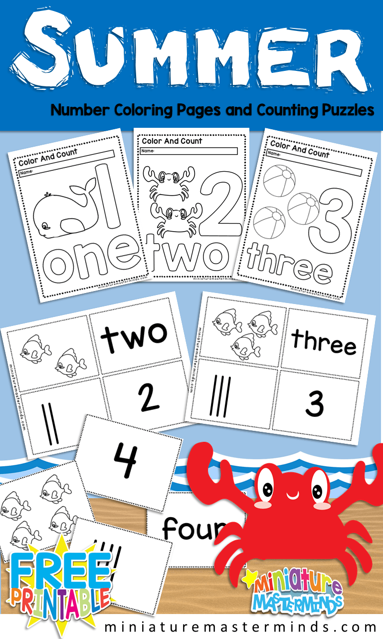 picture about Number Puzzles Printable identify Totally free Printable Summer months Themed Variety Coloring Guide And Selection
