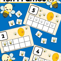 Bumble Bee Preschool 10 Frame Counting Activity