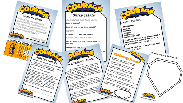 Fearless - Free Printable 5 Day Vacation Bible School or Home School
