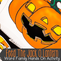 Feed The Jack O Lantern Halloween Kindergarten and First Grade Word Family Activity Literacy Center