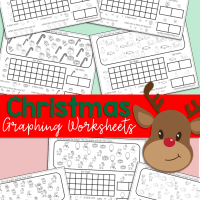 Free Printable Kindergarten and Preschool Christmas Graphing Worksheets
