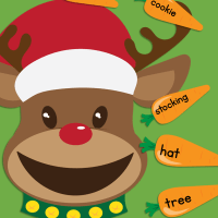 Feed The Reindeer Reading Printable Christmas Word Activity