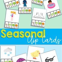 Free Printable Seasonal and Weather Clip Cards