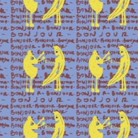 French Terry - Banana bonjour Le loup Art Bio