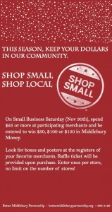 More local shopping this Saturday!
