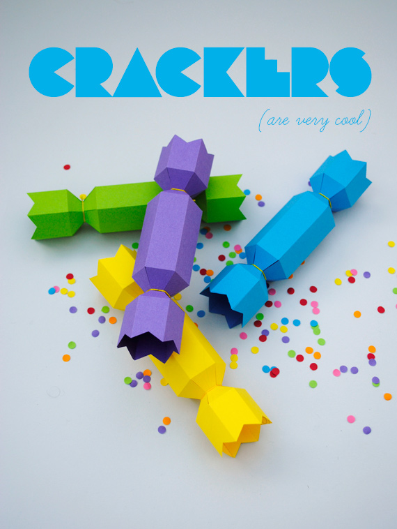 Colourful crackers