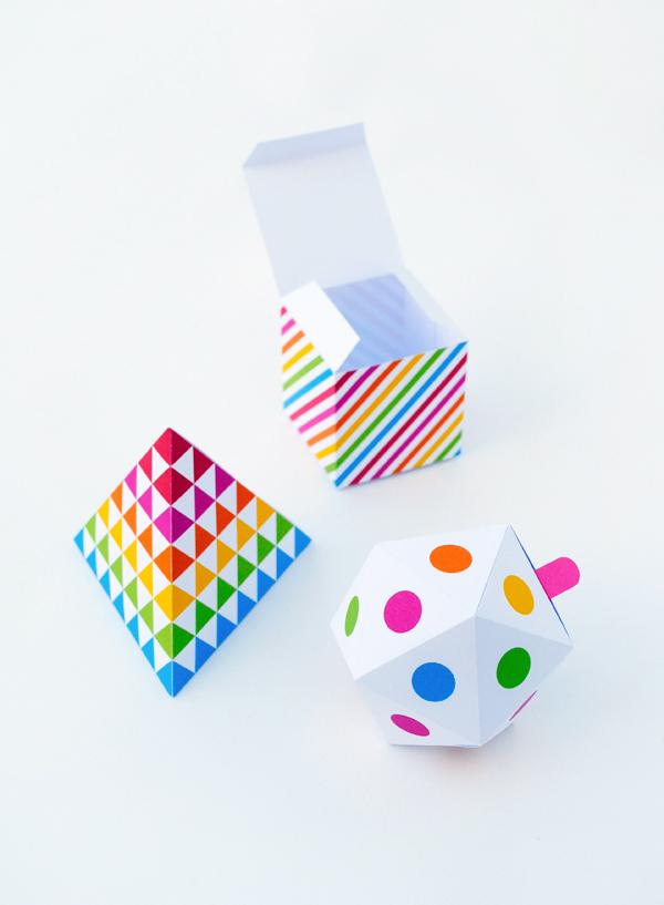 Geometric gift boxes