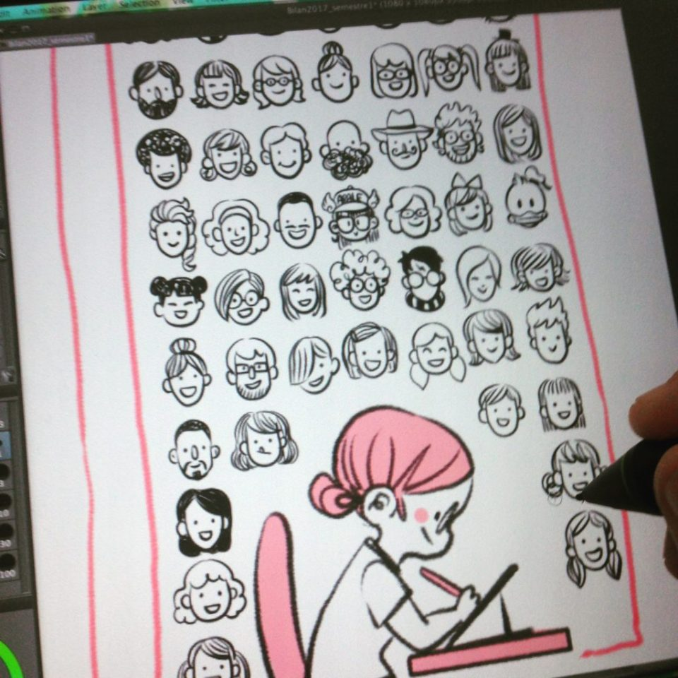 Illustration dessin rose atwork