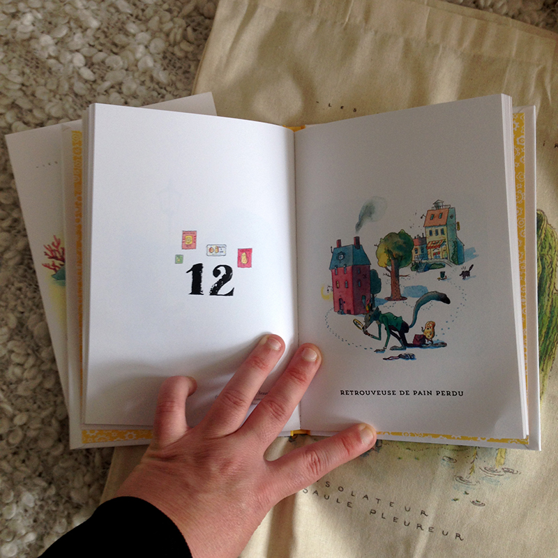 Anne Montel, Ahurie, Les Métiers Imaginaires, Kickstarter, socio-financement, auto édition, autrice de bande dessinée, livre auto publié, métiers, dessin, autrice indépendante, auteur indépendant, illustration jeunesse, illustration poétique, Minikim, BD, Contrepartie, stretch goal