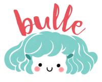 logo, Minikim, Bulle, bande dessinée, titre, title, création de logo, illustration, cute, mignon, adorable, aqua and red, rouge et bleu, dessin