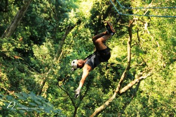 Ziplining in the forests in Peurto Vallarta, Mexico
