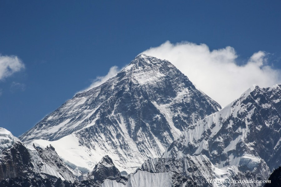 Mt Everest with billowing snow