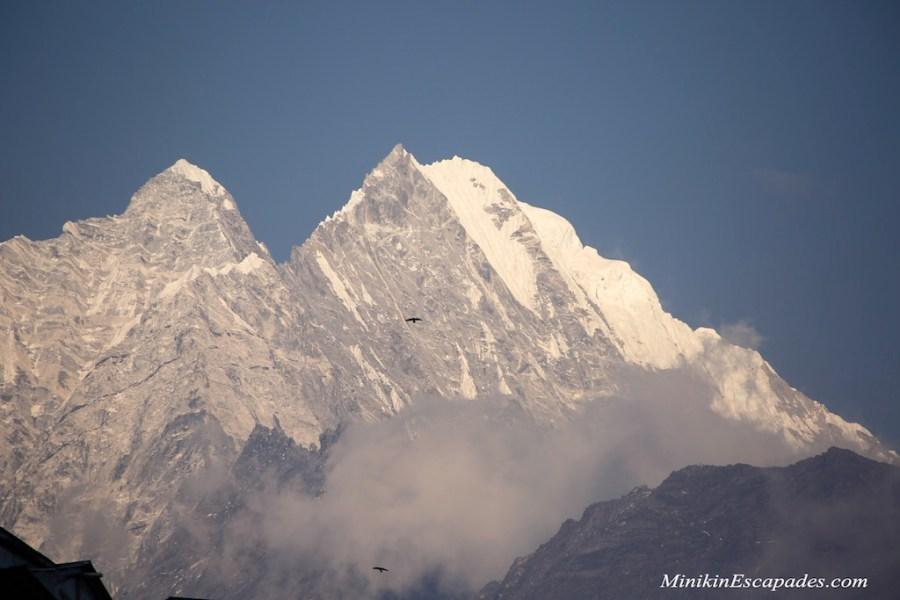 The peaks seen from Namche bazaar