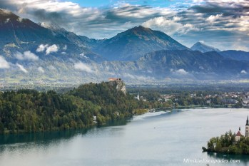 Bled castle and bled lake in SLovenia