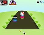 Hello Kitty Araba Yarışı