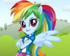 Equestria Girls Rainbow Dash Giydirme