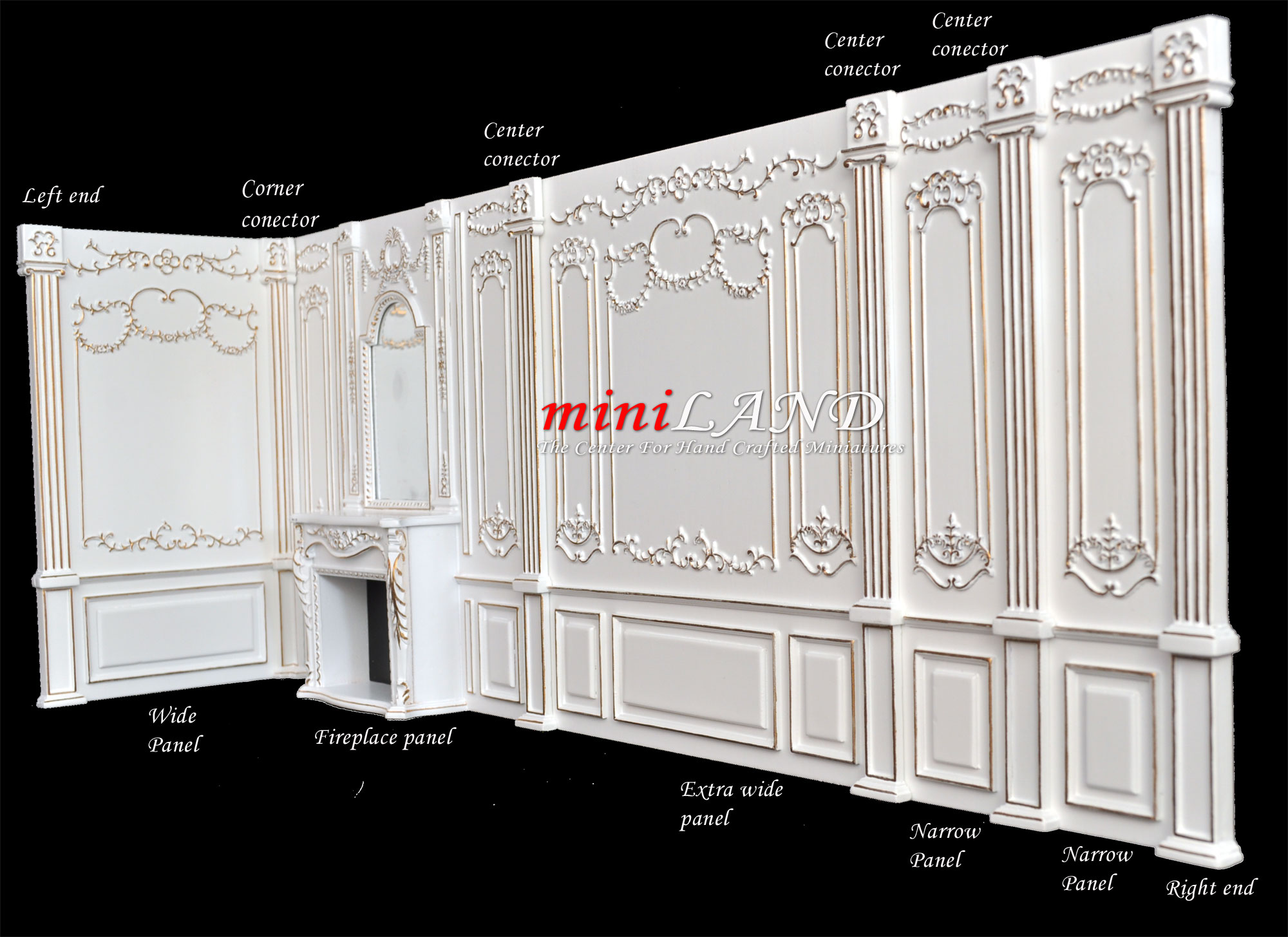 Columns Corners Centers Ends Royal Paneling Line White