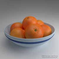 Oranges in a fruit bowl - Procedural materials study