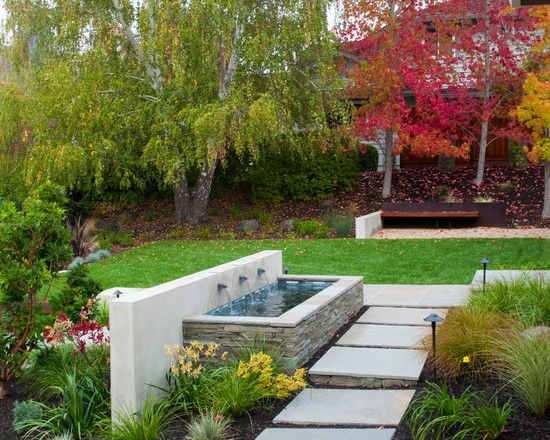 Garden water features - 75 ideas for the design of water oases on Modern Backyard Water Feature id=87381
