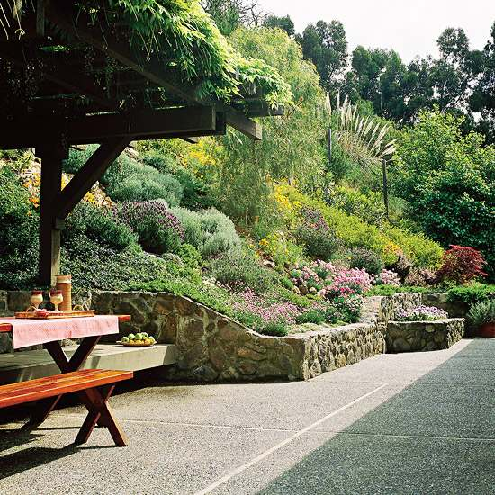 Sloping garden ideas and optimal solutions for landscape ... on Steep Sloping Garden Ideas  id=76143