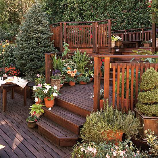 Sloping garden ideas and optimal solutions for landscape ... on Patio On A Slope Ideas id=92539