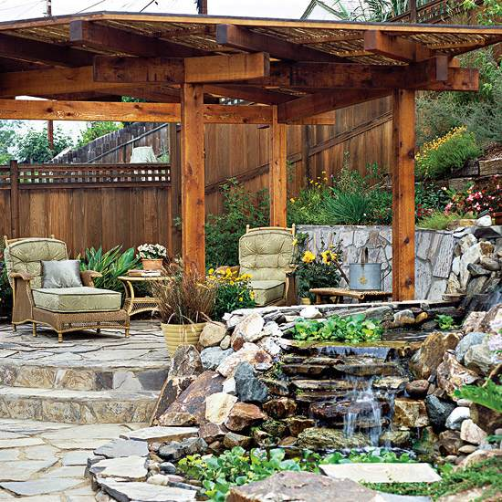Sloping garden ideas and optimal solutions for landscape ... on Patio On A Slope Ideas id=34344