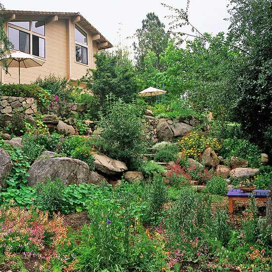 Sloping garden ideas and optimal solutions for landscape ... on Steep Sloping Garden Ideas  id=49667