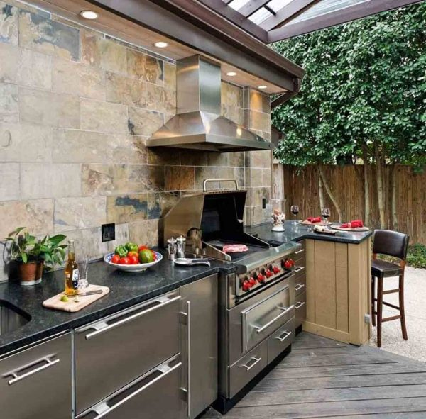 Trendy outdoor kitchen design - ideas for outdoor space on Patio Grilling Area  id=54272
