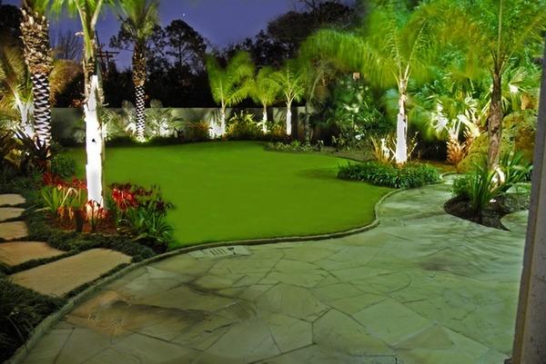 Garden design - 110 pictures, beautiful landscape ideas ... on Palm Tree Backyard Ideas id=59023