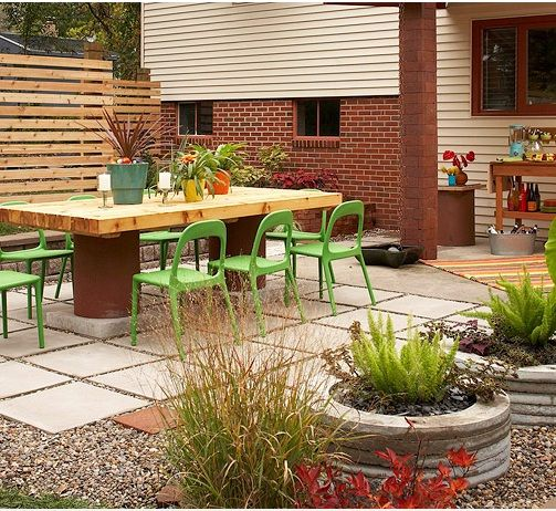Modern garden design - low cost construction in 10 easy steps on Low Cost Backyard Patio Ideas id=27987
