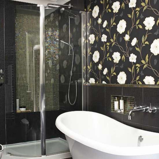 Ideas for bathroom tiles - design variety and tips for tiling on Floral Tile Bathroom Ideas  id=29136