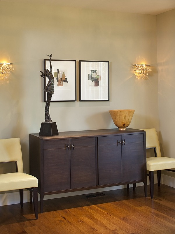 Contemporary wall sconces in the interior design on Dining Room Sconce Idea id=83642