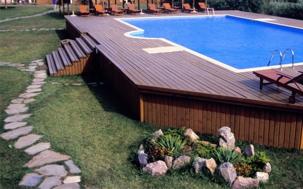 Above ground pool deck plans, design ideas and useful tips on Pool Deck Patio Ideas  id=30260