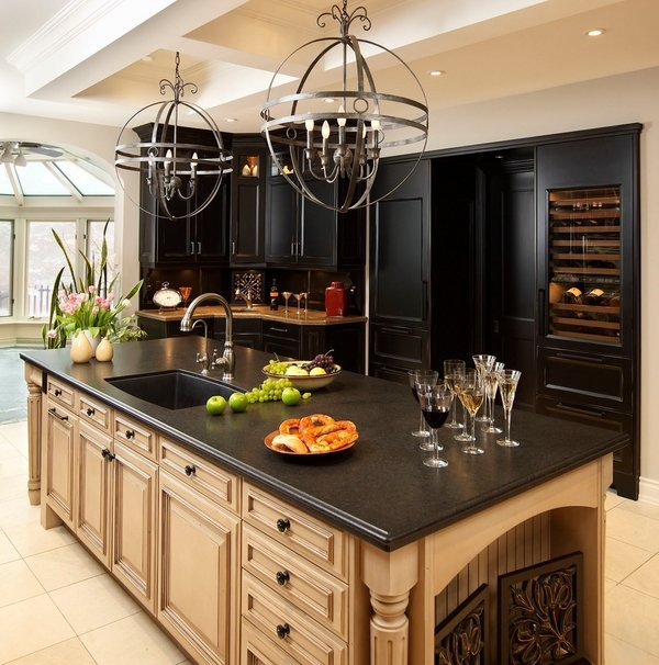 Black pearl granite countertops - choosing a luxury ... on Dark Granite Countertops With Dark Cabinets  id=49605