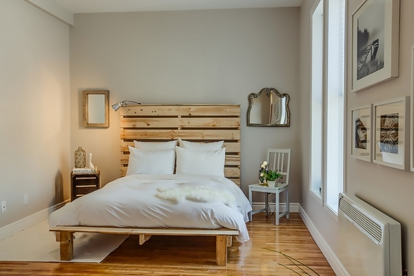 Creative pallet headboard ideas - a charming accent in the ... on Pallets Bedroom Ideas  id=69502