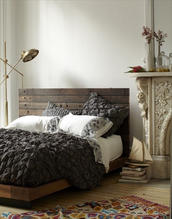 Creative pallet headboard ideas - a charming accent in the ... on Pallet Bedroom  id=32111