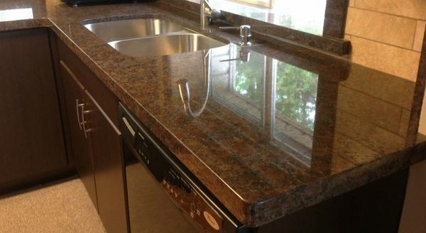 Coffee brown granite countertops - a variety of hues to ... on Black Granite Countertops With Brown Cabinets  id=53154